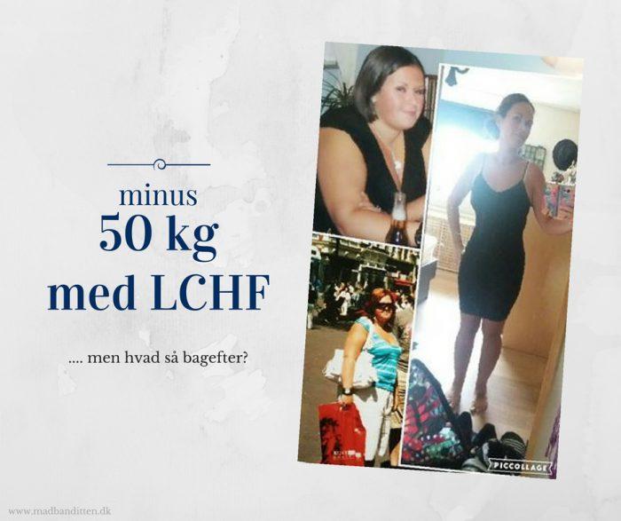 Minus 50 kg med LCHF. Læs historien om Nadjas vilde vægttab og se den overraskende følelse det efterlader hende med.