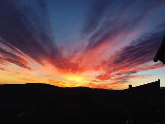 Solnedgang, Provence, Sydfrankrig
