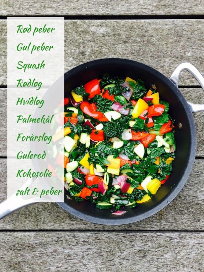 Stegte grøntsager - server med den perfekte dampede laks og du har et dejligt måltid.