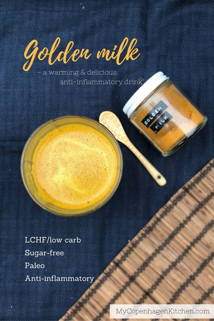 Golden Milk - a delicious blend of spices to make this warming and anti-inflammatory drink with turmeric and ginger. Recipe here: