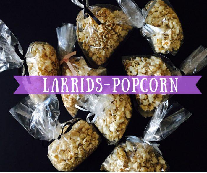 Lakrids-popcorn - god, nem og sukkerfri idé til når børnene skal dele ud i skole eller børnehave, og det helst skal være uden sukker. Nap idéen her: