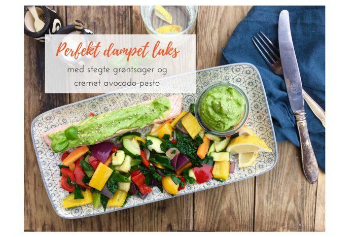 Sådan tilbereder du bedst laks --> Perfekt dampet laks med stegte grøntsager og avokado-pesto