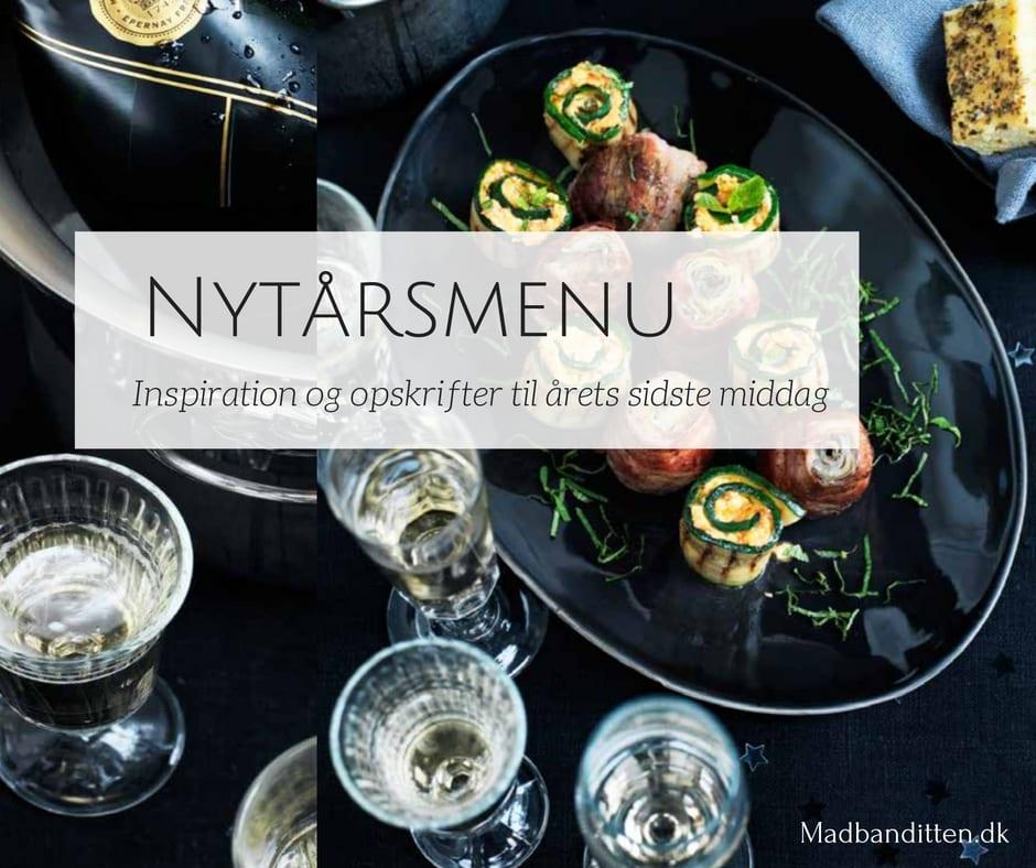 Nytårsmenu og nytårsopskrifter. Inspiration og opskrifter til at imponere vennerne med et brag af en menu nytårsaften.