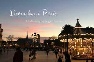 Paris i december. Skal du på weekend i Paris i december, så se med her: