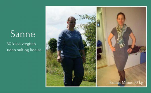 Sanne tabte 30 kg med LCHF på bare 6-7 mdr. Læs hendes historie her