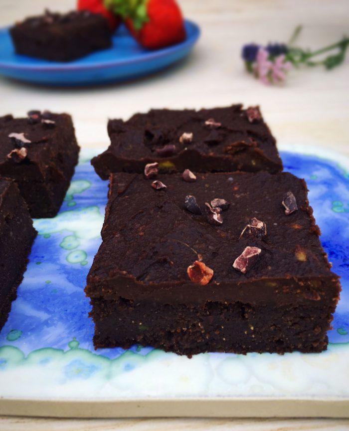 Brownie med avocado - dejlig opskrift uden mel, gluten og sukker.