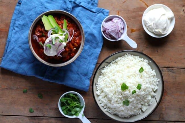 Chili sin carne - opskrift på en LCHF vegetarisk chili