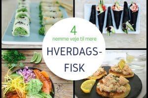 4 lækre fiskeopskrifter, der gør det nemt at få mere fisk ind i hverdagen
