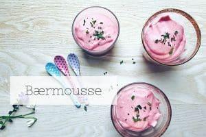 Bærmousse - lækker og sund dessert - kan fint laves med frosne bær - Opskrift her: