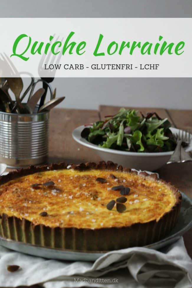 Quiche Lorraine - low carb og glutenfri tærte med bacon og ost