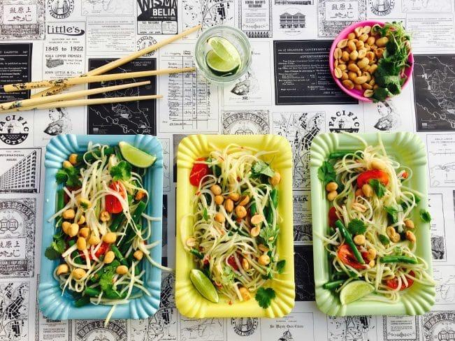 Papayasalat - sukkerfri opskrift på den stærke og lækre grønne papayasalat