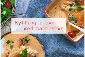 Kylling med baconsovs - en rigtig LCHF hverdagsfavorit. Opskrift her: