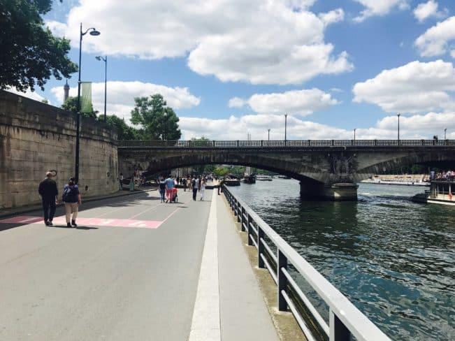 Seine, venstrebred, Paris