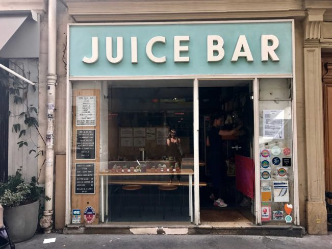 Juice bar, Paris