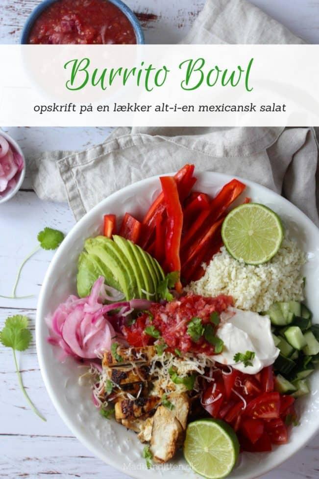 Burrito Bowl - lækker low carb version af den populære Burrito Bowl. Mexicansk mad, når det er bedst.