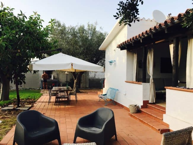 Hyggeligt hus, vi lejede på Sardinien