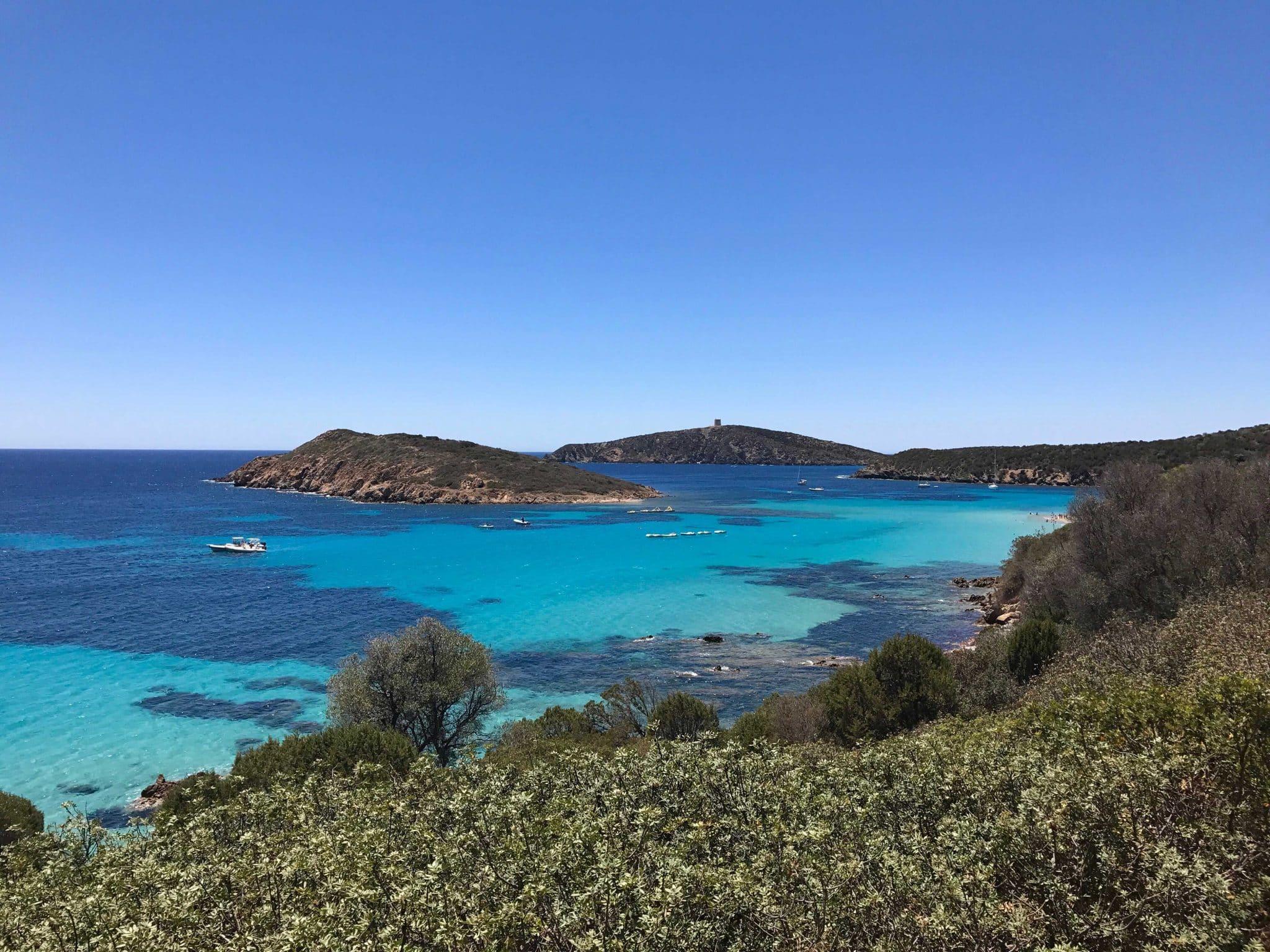 Sardiniens strande - se de smukke strande, vi besøgte på Sardinien. Chia, Teulada, Pula, Nora, Villasimius, Olbia