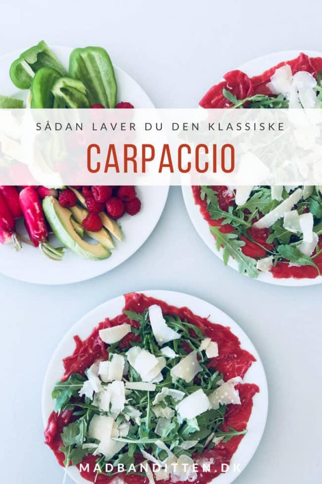 Carpaccio - sådan laver du den lækre forret carpaccio med rucola og parmesan