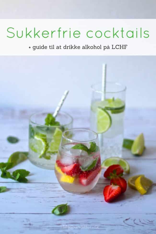 Sukkerfrie cocktails og guide til alkohol og LCHF