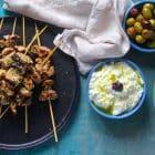Souvlaki - opskrift på den lækreste møre souvlaki med svinekød, der sender dig direkte på tavernaen i Grækenland