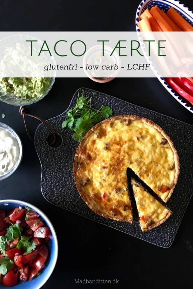 Mexicansk Taco tærte - glutenfri, low carb, LCHF opskrift på lækker tærte med sprød bund og god krumme