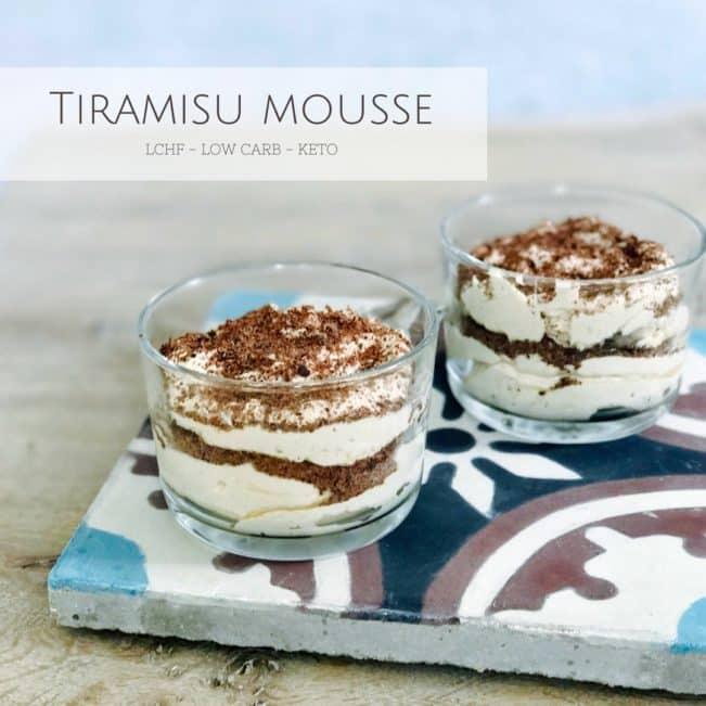 Tiramisu mousse - lækker LCHF dessert uden raffineret sukker og med uhørt god smag