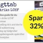 Spar 32% på min online guide til striks LCHF