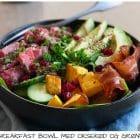 Breakfast Bowl med oksekød, græskar og avocado