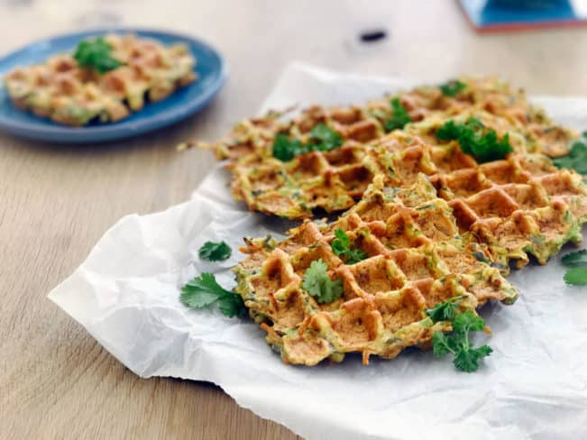 Grøntsagsvafler - opskrift på lækre glutenfrie vafler med spidskål
