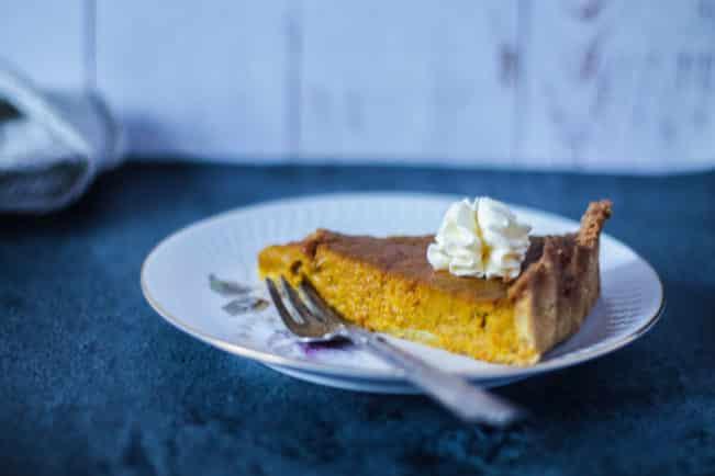 Græskartærte - opskrift på Pumpkin pie uden gluten og raffineret sukker