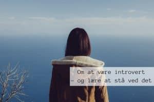 Om at være introvert og lære at stå ved det!