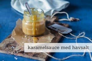 Karamelsauce med havsalt - sukkerfri og low carb og lavet med kun 3 ingredienser