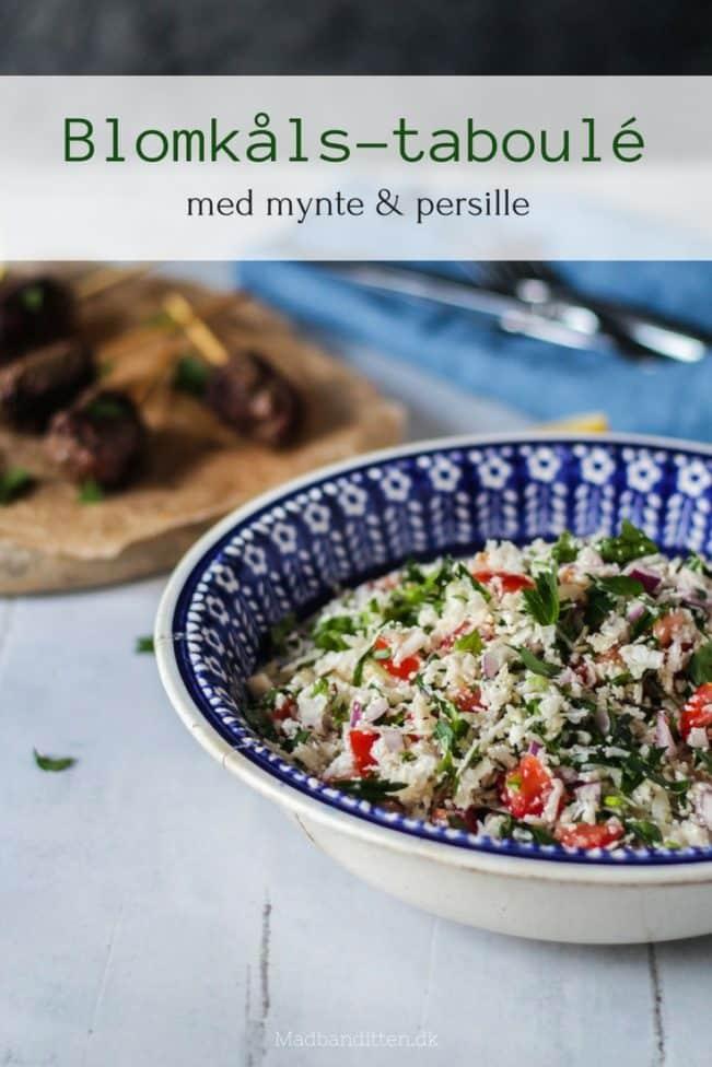 Blomkålstaboulé - lækker frisk og sund salat med blomkål, mynte og persille