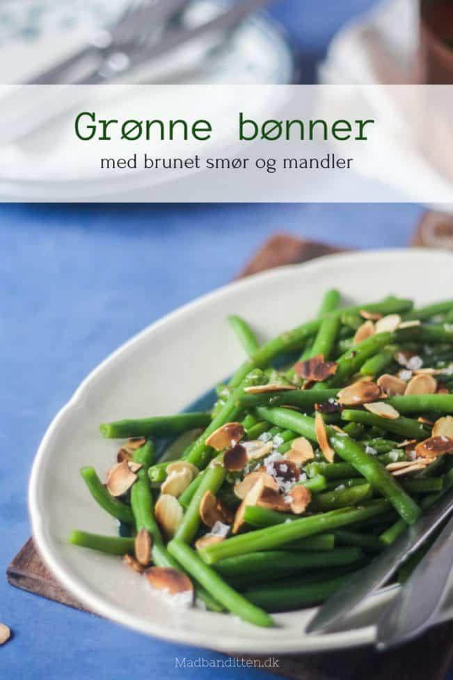 Grønne bønner med brunet smør og mandler - opskrift på lækkert LCHF/keto tilbehør til al slags kød