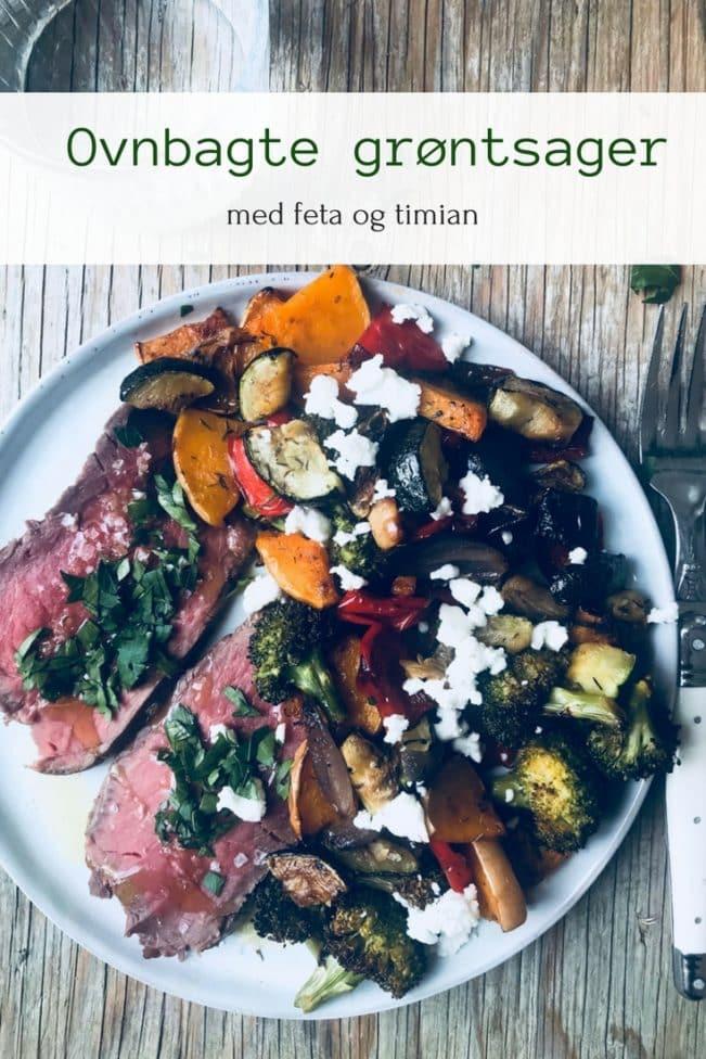 Ovnbagte grøntsager med feta og timian - opskrift på lækkert og sundt tilbehør
