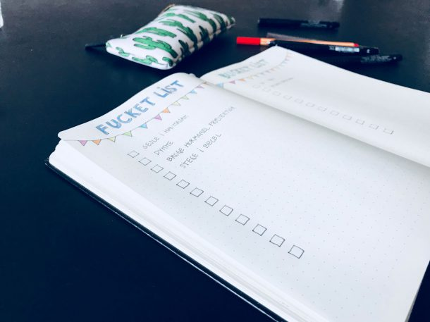 Fucket list bullet journal