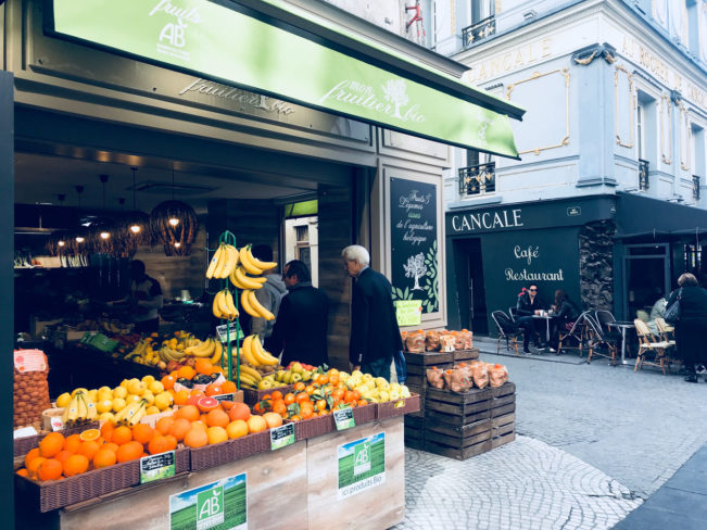 Rue Montorgueil - madmarkeder i Paris