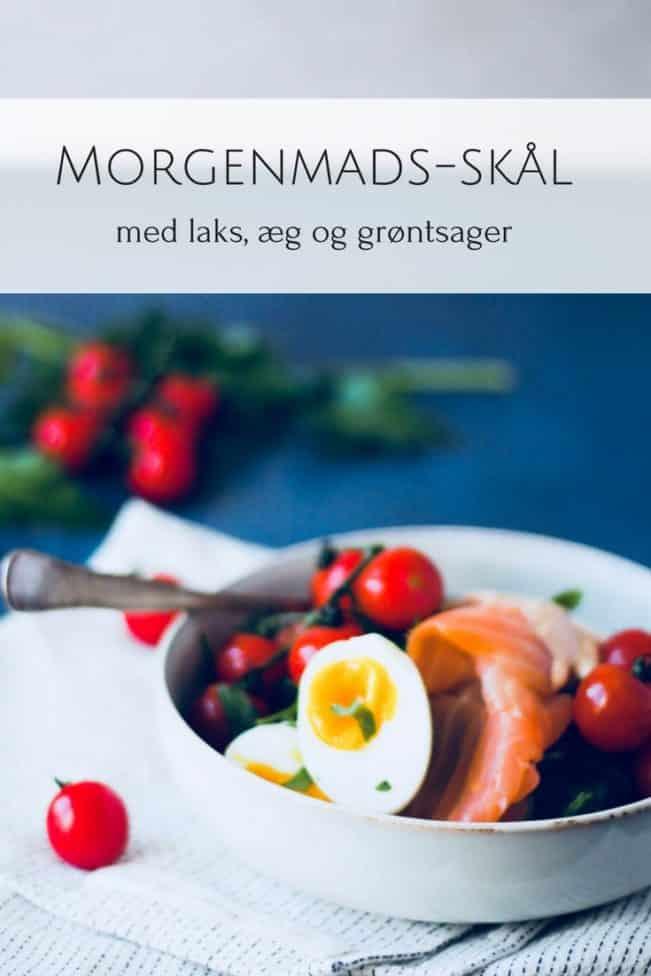 Morgenmadsskål med æg og laks - lækker LCHF / Keto morgenmad