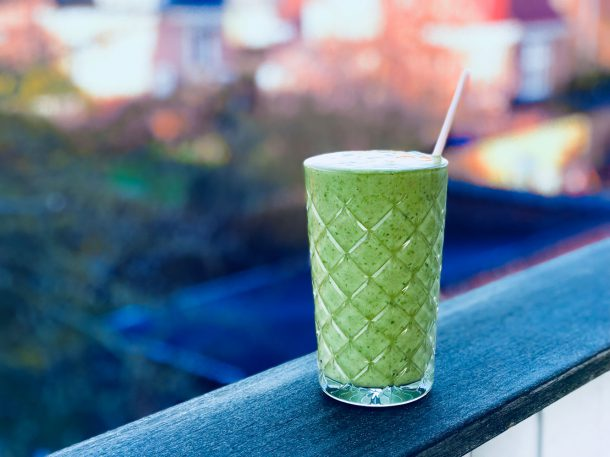 Spinat-matcha-smoothie