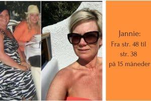 Jannie tabte 33 kg på 15 måneder med LCHF og gik fra str. 48 til str. 38