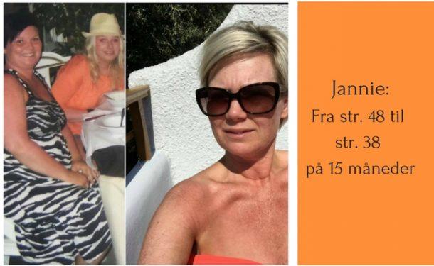 Jannie: Fra str. 48 til str. 38 på 15 måneder