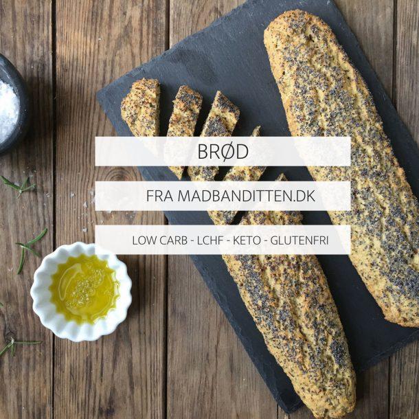 BRØD FRA MADBANDITTEN - LOW CARB - LCHF - KETO - GLUTENFRI