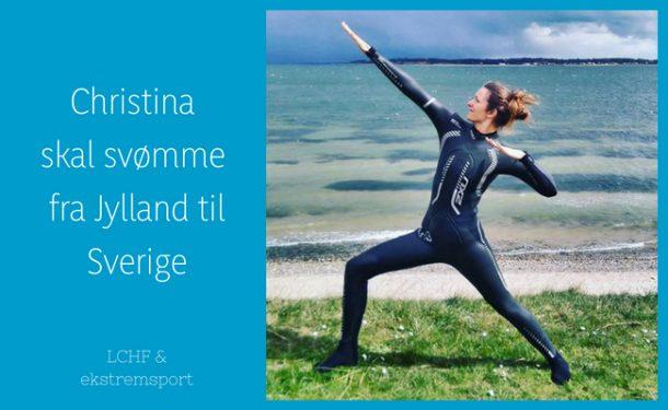 Christina Hedegård, ekstremsvømmer på LCHF, skal svømme fra Nordjylland til Sverige