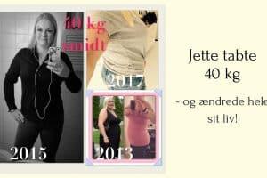 Jette tabte 40 kg med LCHF på bare et år. Læs hendes historie her: