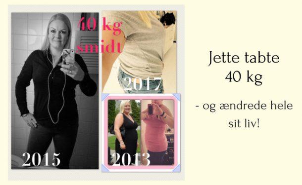 Jette tabte 40 kg og ændrede hele sit liv