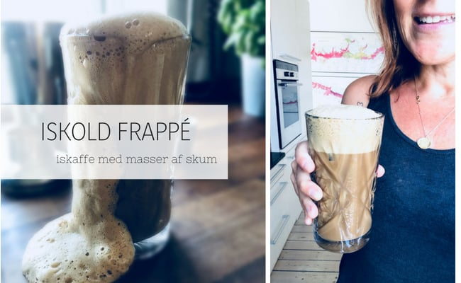 Frappé iskaffe - shaket iskaffe med masser af skum