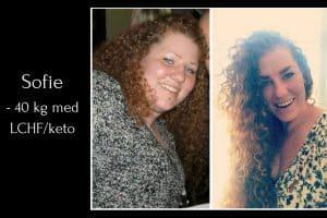 Sofie tabte 40 kg med LCHF / Keto - Læs hendes historie her: