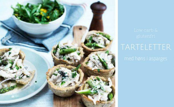 Tarteletter med høns i asparges - opskrift på tarteletter - Low carb, LCHF, glutenfri