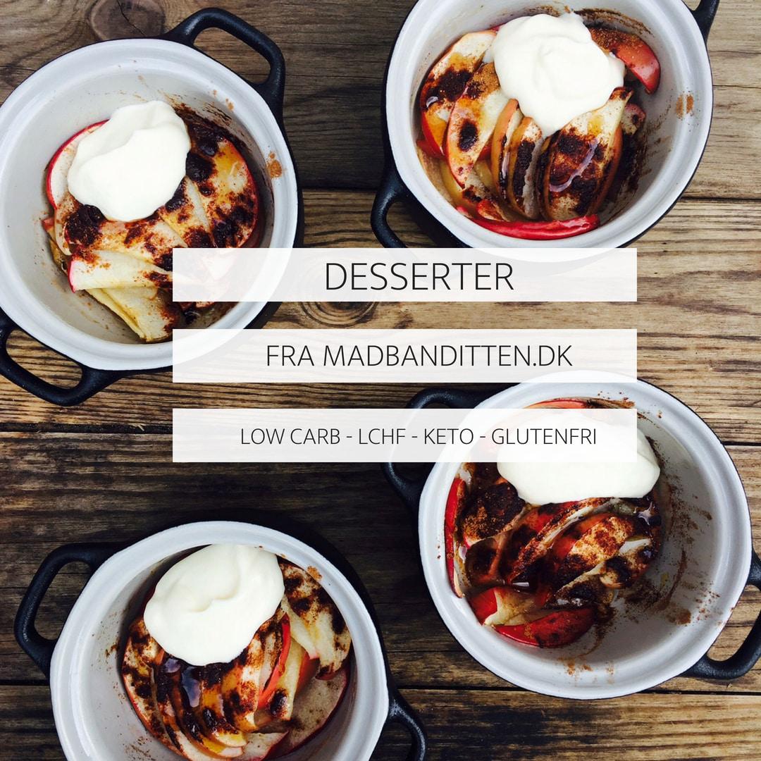 Dessert fra Madbanditten - glutenfri, sukkerfri, low carb