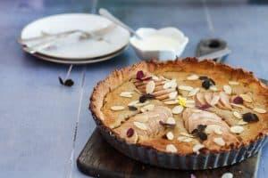 Pæretærte - opskrift på glutenfri pæretærte uden raffineret sukker